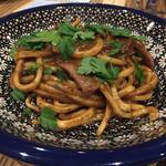 58594067 - イカキモのラグー 極太麺