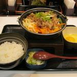 吉野家 - 2016年冬限定「牛すき鍋膳」です。