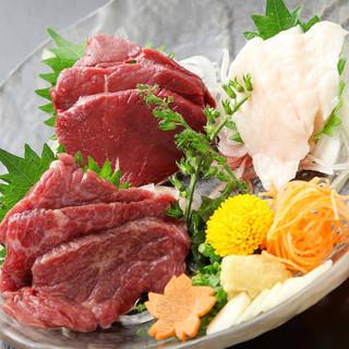 九州料理馬刺し3点盛り