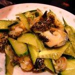 歓迎 - 胡瓜とつぶ貝和え