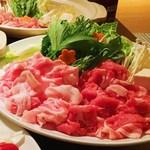 はる - ルスツ産もち豚2種のしゃぶしゃぶ鍋(2~3人前)