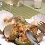 58606168 - 鮑、蛤、帆立のサフラン風味スパゲティ