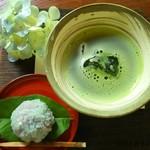 58606680 - 上生菓子付きお抹茶(2016年6月)