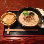 豆乳ラーメン専門店 豆禅 - きのこ山椒豆乳ラーメンセット
