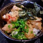 博多もつ鍋 いっぱち - もつ焼き丼 830円 (16年11月)