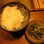 能登半島  郷土料理の宿 さんなみ - ご飯と漬物