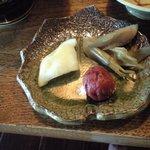 能登半島  郷土料理の宿 さんなみ - 漬物とすっぱい梅干