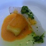 5861638 - ニョッキと水イカの一口前菜