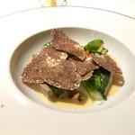 58610918 - 白トリュフのかかったフランス産乳飲み仔牛のブランケット 冬野菜のブイヨン煮
