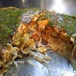 えんじゃ - そば肉玉。卵が半熟でトローリと・・・。