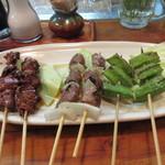 Ryoushidiyasakurajima - 焼き物は各自2本づつ好きな物を頼んでみましたが綺麗に6種類に別れました。