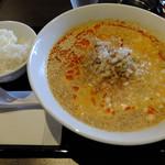 餃子や獅丸 - 白胡麻坦々麺定食