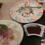 喜重会館 - 刺身とカルパッチョ