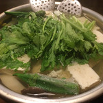 湯どうふごん兵衛 - 湯豆腐ができたところ