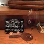 58637375 - おすすめmenuと赤ワイン 700yen(16.02)