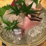 和彩 そあら - お造り盛り合わせ(5種) この店は魚が美味しいお店ですね(^-^)/