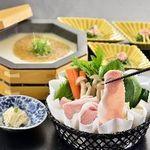 八かく庵 - 『京都ぽーくと京野菜の豆乳しゃぶしゃぶ』ぽーくを味わう豆乳鍋プラン