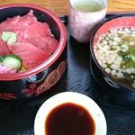 活漁レストラン藤 - 鉄火丼(水曜日500円(税込み))