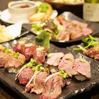 肉バル名物♪絶品!肉寿司