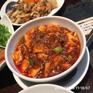 神楽坂芝蘭 - 陳麻婆豆腐 花山椒が良く効いて刺激的