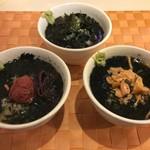 名代 串揚げ 松葉 - お茶漬け(鮭.梅.のり)