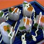 季節料理 利兵衛 - カニと水菜の生春巻