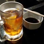 北とうがらし - ウーロン茶(280円税)です。