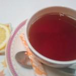 串懐石 串徳 - 食後の紅茶   レモンが大きい♪