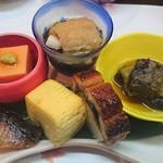 串懐石 串徳 - 前菜6種   きれいな彩り♪
