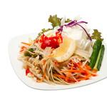 ローンスラータイ1950's - 7 ส้มตำไทย  ソムタムタイ バンコク風の青パパイヤサラダ 甘辛酸っぱくて食べやすいです。 ¥690