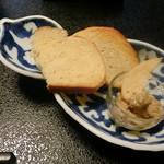 料亭 稲穂 - 当店特製塩魚汁(しょっつる)フランスパン
