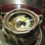 しし翁 - 鱧と松茸の土瓶蒸し(中味)