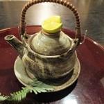 しし翁 - 鱧と松茸の土瓶蒸し