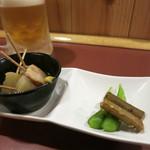 Izakayasairai - 生ビールとお通しで一服