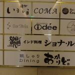 インド料理 ショナ・ルパ - ビル案内板