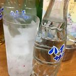 かね将 - 炭酸水110円(税別)