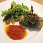 トラットリア レット - イワシのベッカフィッコ 季節野菜のサラダと共に