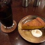 jua cafe - あずきとかぼちゃのケーキセット780円