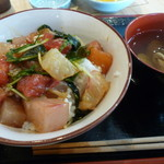 58680411 - 海鮮丼(タレと合えてのせました)
