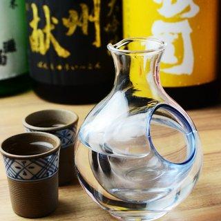 日本各地の地酒に厳選したワイン♪こだわりの飲み放題メニュー