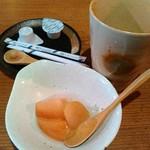 58681650 - ドリンク+デザート(りんごのコンポート)