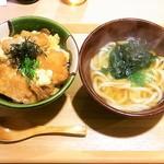 本格熟成うどん 一期一麺 - お昼の日替わり丼セット¥850(税込)