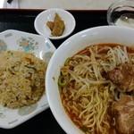 百菜 - 味噌ラーメン&半チャーハン定食