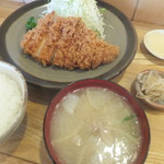 とんかつ大関 - ロースかつ定食1,500円