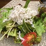 天麩羅 いづも - 釜揚げシラスのサラダ