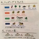 スープカレー ポニピリカ - トッピングとご飯の量をチョイス!