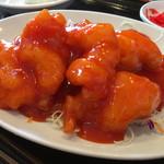 萬福 - 大正海老のチリソース炒め定食¥980