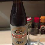 熊ぼっこ - 大瓶ビール 450円