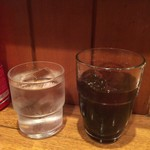 カレーハウス キラリ - 水 + アイスコーヒー