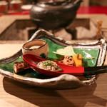 別邸 仙寿庵 - 旬味・滋味 南京羹 蓮根煎餅 胡桃豆腐 子持鮎有馬煮 長芋とんぶり和☆